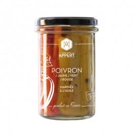 POIVRONS / JAUNE / VERT / ROUGE  MARINÉS A L'HUILE