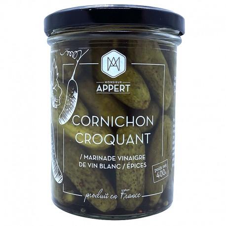 CORNICHON FIN CROQUANT - Marinade Vinaigre de vin blanc/Epices